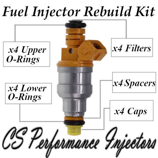 Fuel Injectors Rebuild Kit fits 0280150760 for 1989-1990 Saab 900 2.0L I4 89 90