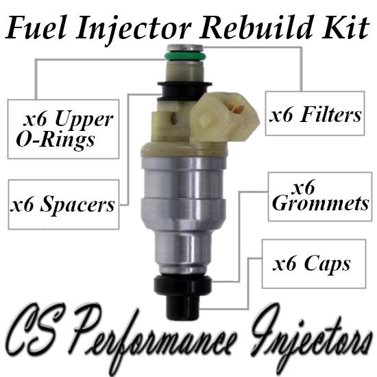 Fuel Injectors Rebuild Repair Kit fits INP-057 for 90-94 Dodge Mitsubishi 3.0