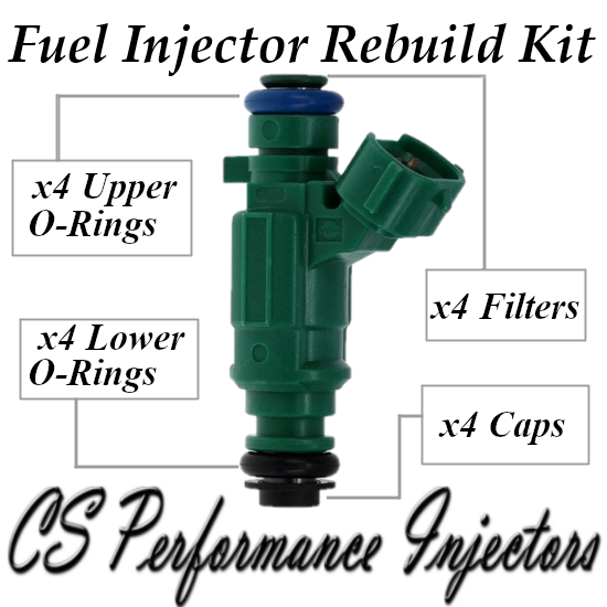 Fuel Injectors Rebuild Repair Kit fits 0280156159 for 03-06 Nissan Sentra 1.8 I4