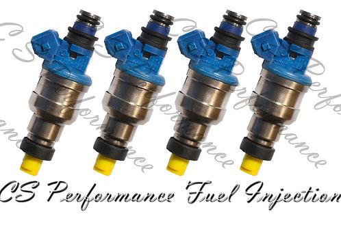 OEM Nikki Fuel Injectors Set (4) INP-065 for 1994-1999 Mitsubishi 2.4L I4