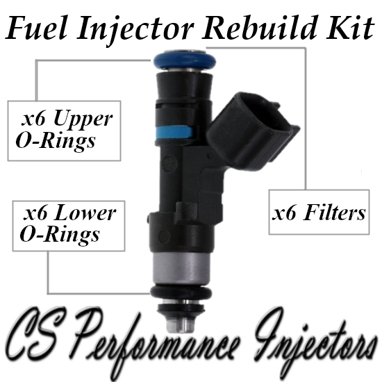 Fuel Injectors Rebuild Repair Kit fits 0280158055 for 05-11 Ford Mazda Merc 4.0