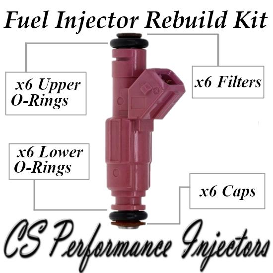 Fuel Injectors Rebuild Repair Kit fits 0280155832 for 1999 Volvo S80 2.9L I6