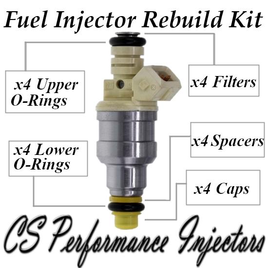 Fuel Injectors Rebuild Repair Kit fits 35310-22040 for 93-99 Hyundai 1.5L I4