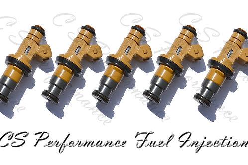 OEM Denso Fuel Injectors Set (5) 9125821 for 1999 Volvo S70 V70 2.4L I5 99 2.4