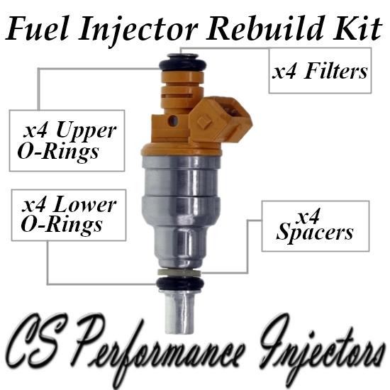 Fuel Injectors Rebuild Kit fits 0280150711 for 86-90 Saab 9000 900 2.0 2.3 I4