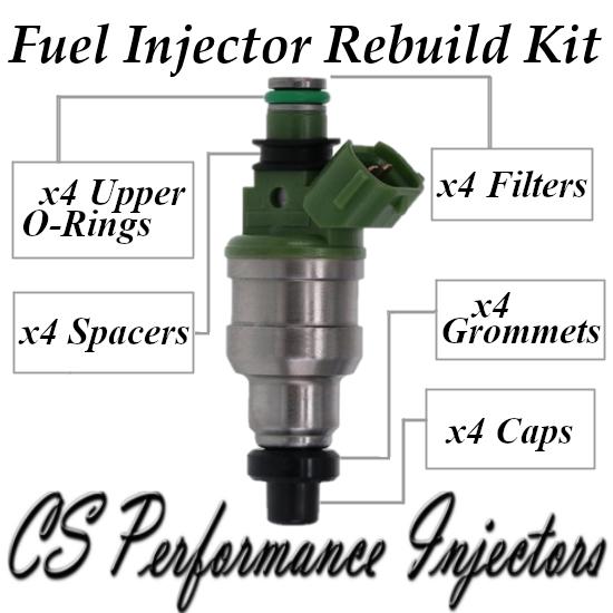 Fuel Injectors Rebuild Repair Kit fits INP-484 for 95-96 Mazda Protege 1.5 I4