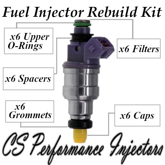 Fuel Injectors Rebuild Repair Kit fits 195500-2630 for 1993-1995 Ford Taurus 3.2