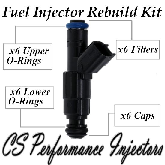 Fuel Injectors Rebuild Repair Kit fits 0280156182 for 05-09 Chevy Pontiac 3.4 V6