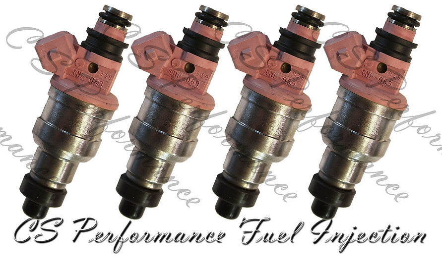 OEM Fuel Injectors Set (4) INP-059 for 91-94 Mitsubishi Eagle Plymouth 2.0 I4