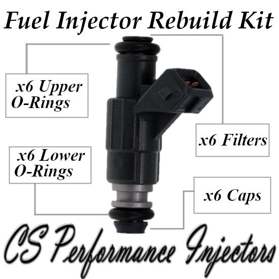 Fuel Injectors Rebuild Repair Kit fits 0280155734 for 97-98 Ford Mercury 4.0L V6