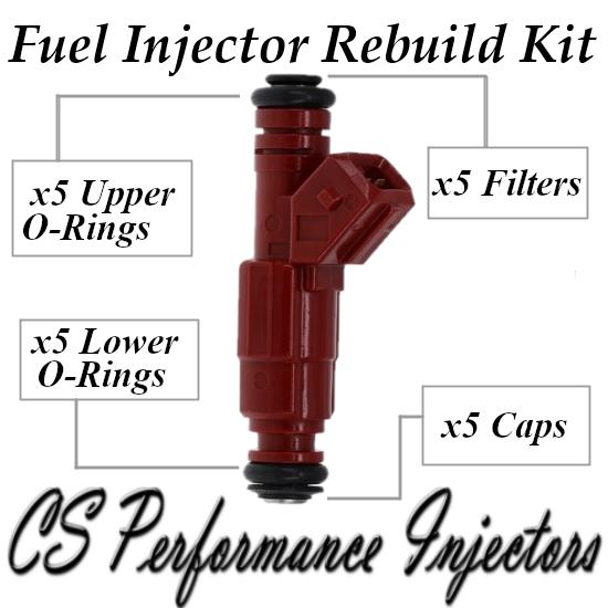 Fuel Injectors Rebuild Repair Kit fits 0280155759 for 96-98 Volvo 2.4L 2.3L I5