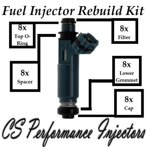 Fuel Injectors Rebuild Kit (8) fits 23250-50040 for 98-05 Lexus Toyota 4.7 V8