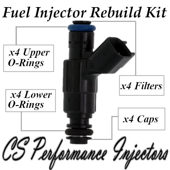 Fuel Injectors Rebuild Repair Kit fits 0280155782 for 98-00 Chrysler Dodge 2.0L