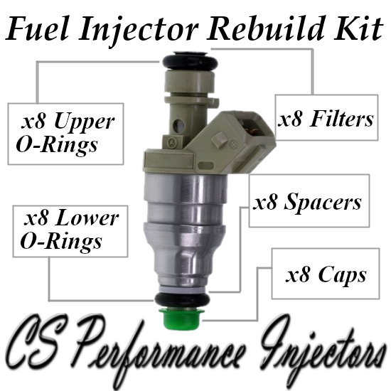 Fuel Injectors Rebuild Repair Kit fits 0280155203 for 1995 Mercedes-Benz 4.2 5.0