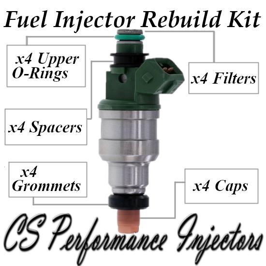 Fuel Injector Rebuild Repair Kit fits 195500-2660 for 92-96 Mitsubishi Dodge 2.4