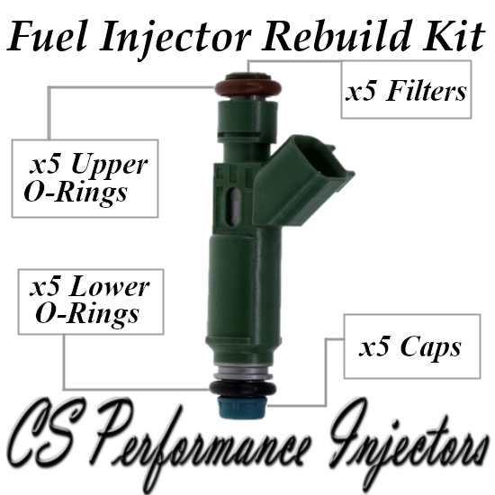 Fuel Injectors Rebuild Repair Kit fits 9470229 for 2001-2007 Volvo 2.4L I5