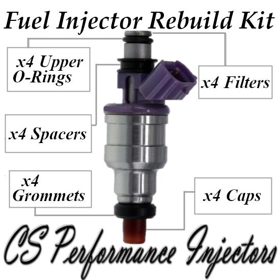 Fuel Injectors Rebuild Repair Kit fits 195500-2110 for 90-93 Ford Festiva 1.3 I4