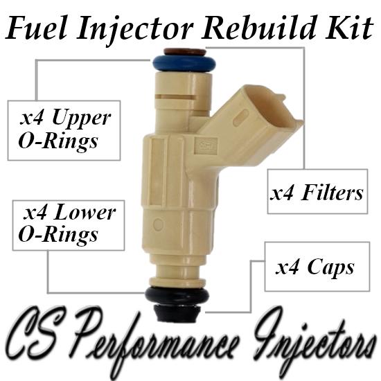 Fuel Injectors Rebuild Repair Kit fits 0280155974 for 00-01 Ford Focus 2.0 I4 SE
