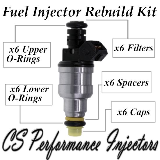 Fuel Injectors Rebuild Repair Kit fits 0280150917 90-95 Buick Oldsmobile 3.8L V6