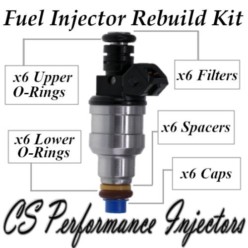 Audi V6 Fuel Injector Repair Service Kit Seals Filters Pintle Caps CSKBO16