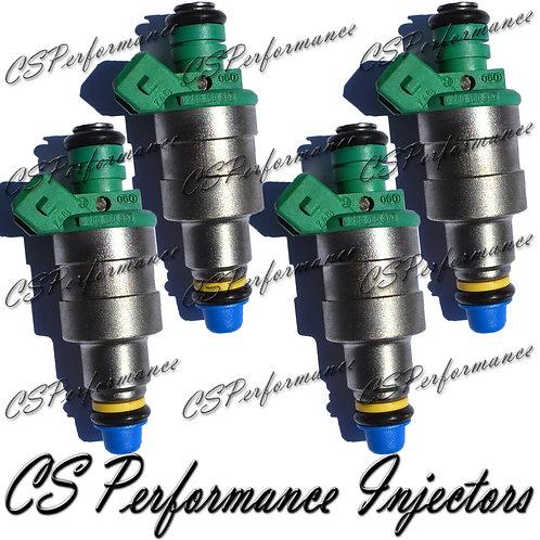 OEM Bosch Fuel Injectors Set (4) 0280150357 for 84-91 Volvo 2.3L I4 Green Top