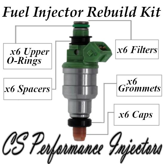 Fuel Injectors Rebuild Repair Kit fits INP-061 91-95 Mitsubishi Dodge 3.0L V6