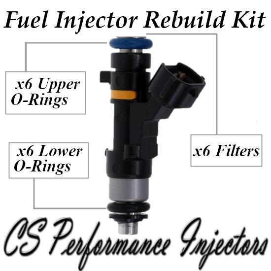 Fuel Injectors Rebuild Repair Kit fits 0280158042 for 04-08 Infiniti Nissan 3.5L