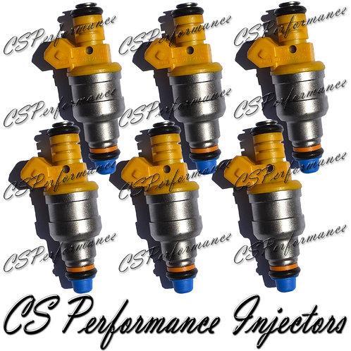 OEM Bosch Fuel Injectors Set (6) 0280150762 for 87-94 Volvo Peugeot 2.8L V6 I6