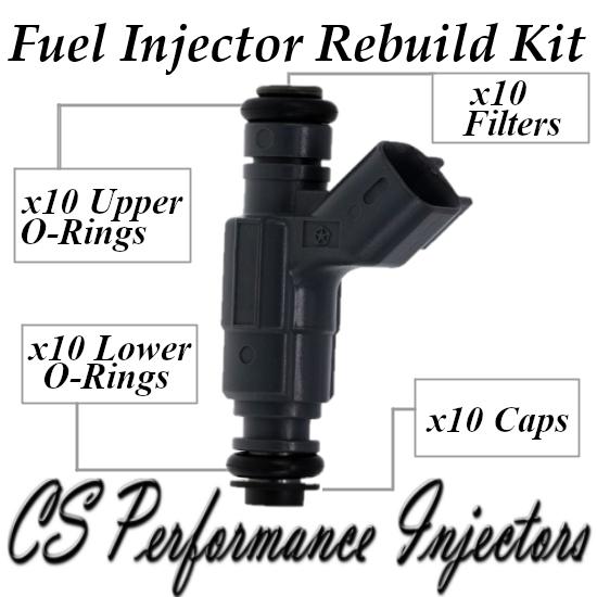 Fuel Injectors Rebuild Kit fit 0280155780 for 98-03 Dodge Ram 2500 3500 8.0L V10