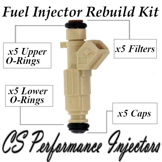 Fuel Injectors Rebuild Repair Kit fits 0280155766 1996-1998 Volvo 2.3L I5 Turbo