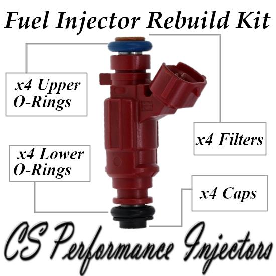 Fuel Injectors Rebuild Repair Kit fits 0280155937 for 00-02 Nissan Sentra 1.8 I4
