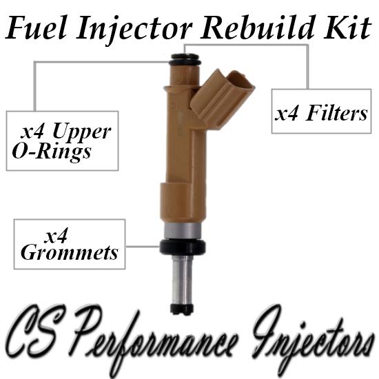 Fuel Injectors Rebuild Repair Kit fits 23250-0T020 for 09-19 Toyota Pontiac 1.8
