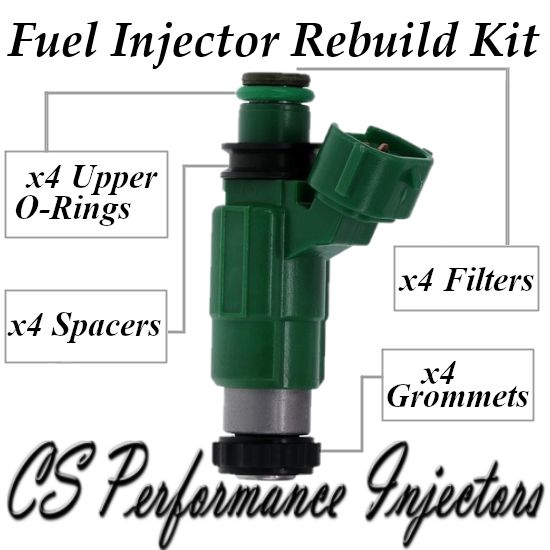 2.0 Mazda I4 Fuel Injector Service Rebuild Kit Orings Filter Grommets CSKDO14
