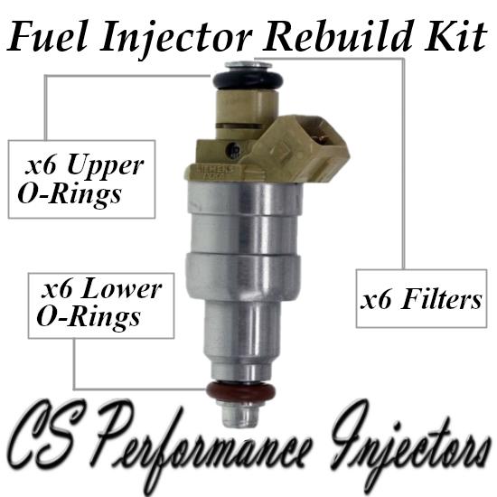 Fuel Injectors Rebuild Repair Kit fits 4418661 for 90-91 Chrysler Dodge 3.3 3.8