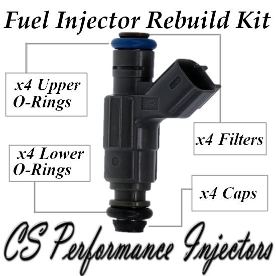 Fuel Injectors Rebuild Repair Kit fits 0280156046 for 02-04 Ford Focus 2.0L I4