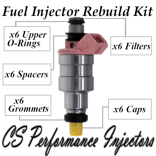 Fuel Injectors Rebuild Repair Kit fits 195500-1960 for 89-95 Ford Taurus 3.0 V6