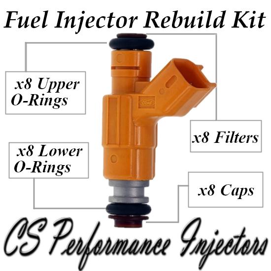 Fuel Injectors Rebuild Repair Kit fits 0280155877 for 1999 Ford Taurus 3.4L V8