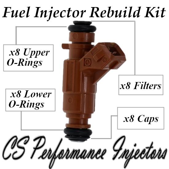 Fuel Injectors Rebuild Repair Kit fits 0280156016 for 00-08 Mercedes 5.0 4.3 V8