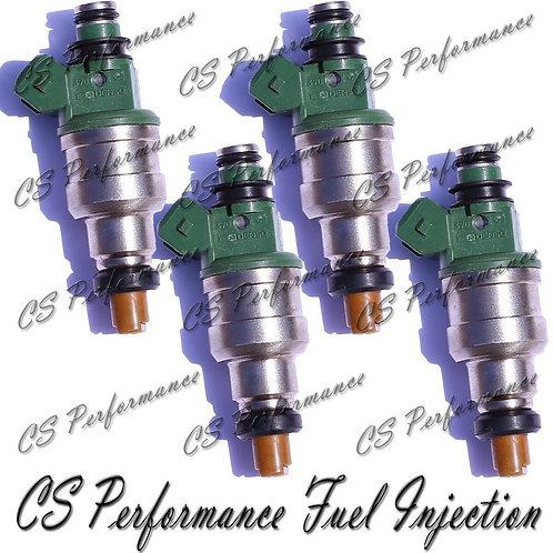OEM Denso Fuel Injectors Set (4) 195500-2660 Rebuilt by Master ASE Mechanic USA