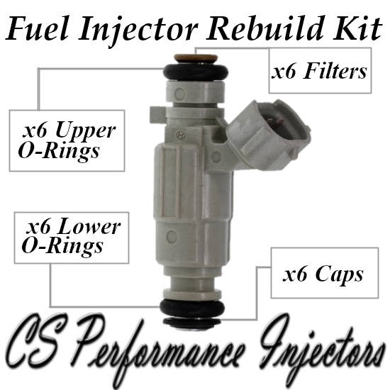 Fuel Injectors Rebuild Repair Kit fits 35310-39030 for 2001 Hyundai 3.0L V6