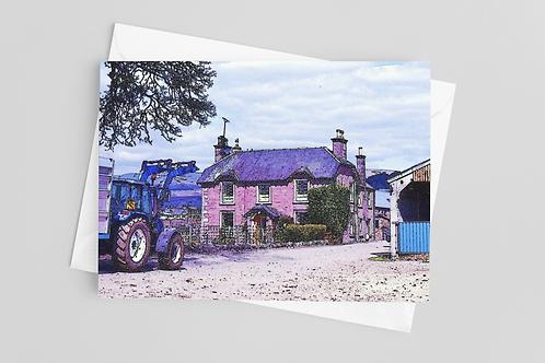 Old Duchlage Farm, Crieff Greetings Card