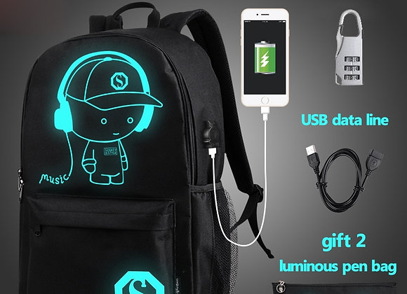 Charge/Music Luminous Unisex bag for all purposes