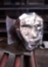 Mask With Collar Sculpture