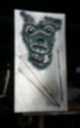 Mask on Panel Sculpture