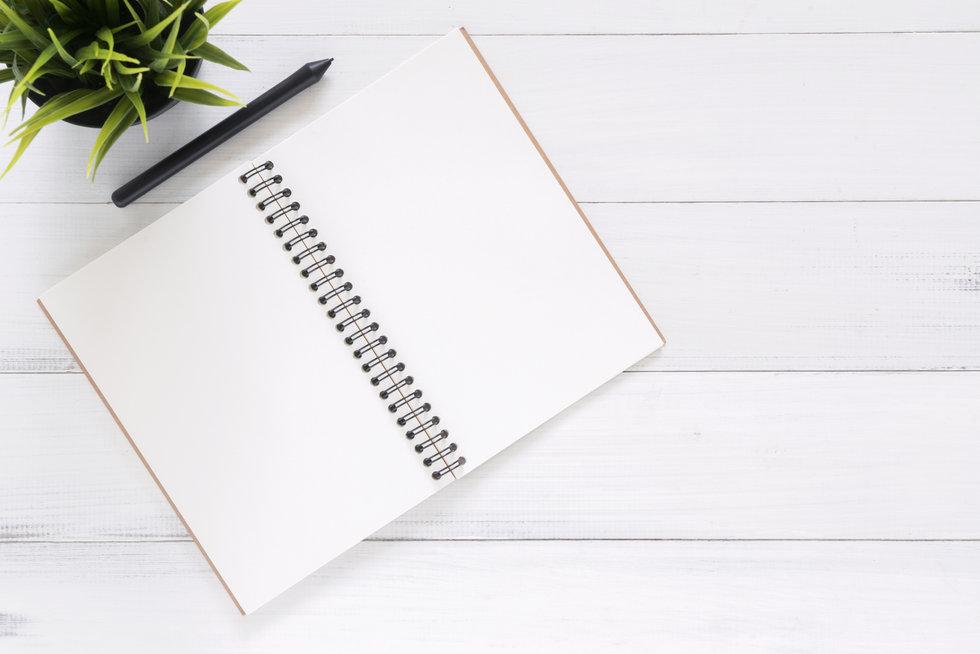Blank Therapist Notebook
