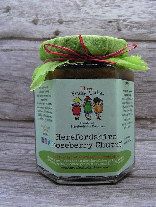 Herefordshire Gooseberry Chutney handmade by Three Fruity Ladies