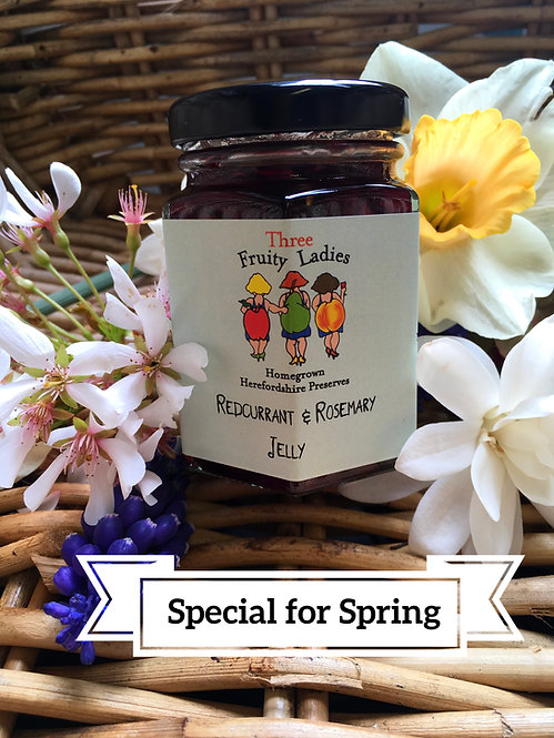 Redcurrant & Rosemary Jelly new to Three Fruity Ladies online shop