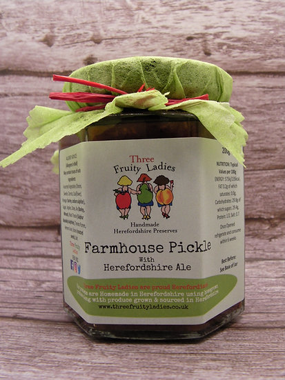 Farmhouse Pickle handmade by Three Fruity Ladies