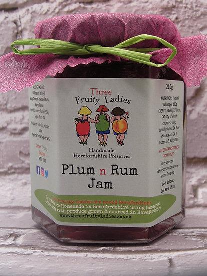Plum N Rum Jam handmade by Three Fruity Ladies