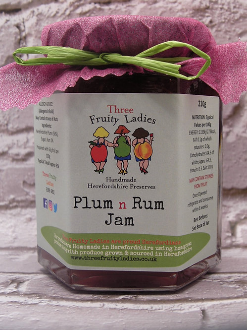Plum n Rum Jam handmade by Three Fruity Ladies